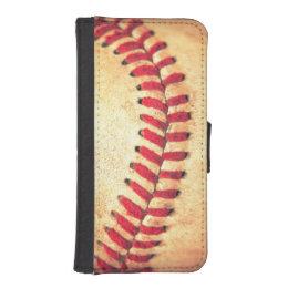 Vintage baseball ball iPhone SE/5/5s wallet