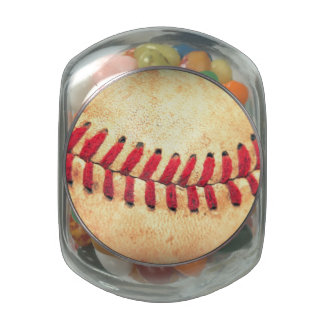 Vintage baseball ball jelly belly candy jars
