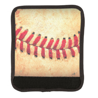 Vintage baseball ball luggage handle wrap