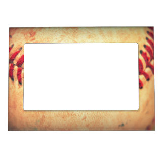 vintage baseball ball magnetic photo frame
