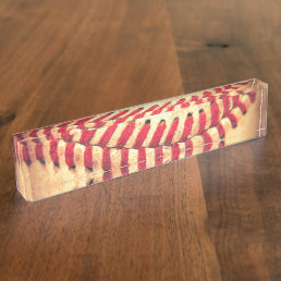 Vintage baseball ball nameplate