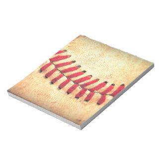 Vintage baseball ball scratch pad
