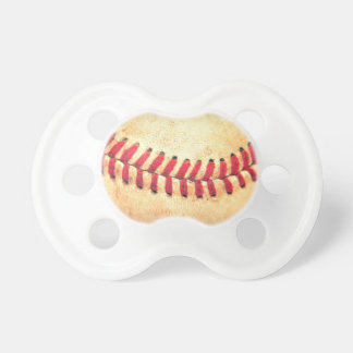 Vintage baseball ball pacifiers