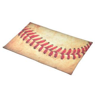 Vintage baseball ball placemat
