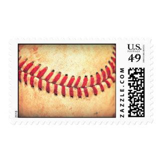 Vintage baseball ball stamp