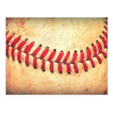 Vintage baseball ball postcard