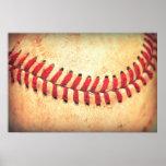 Vintage baseball ball poster