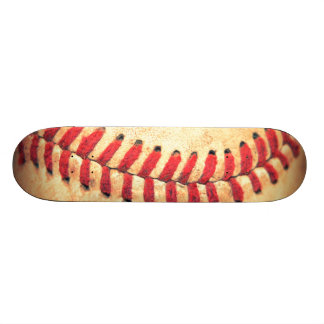 Vintage baseball ball skateboard deck