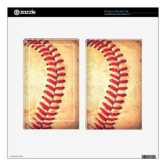 Vintage baseball ball skins for kindle fire