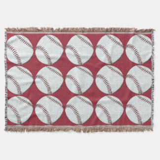 Vintage Baseball ball stitch Throw Blanket