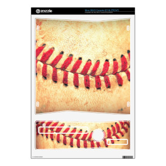 Vintage baseball ball xbox 360 s console skin