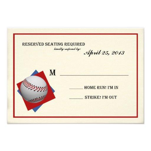 Vintage Baseball Bar Mitzvah Reply Announcement