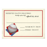 Vintage Baseball Bar Mitzvah Reply Custom Announcement