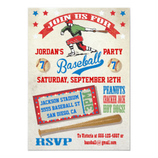 baseball birthday party invitations & announcements | zazzle, Birthday invitations