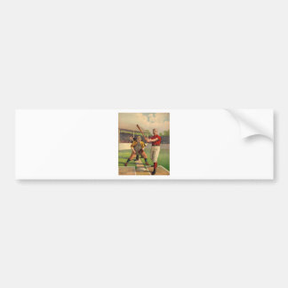 Vintage Baseball Bumper Sticker