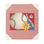 Vintage Baseball Card Bubblegum Wrapper Memo Pad