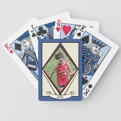 Vintage Baseball Card with Photo Bicycle Playing Cards