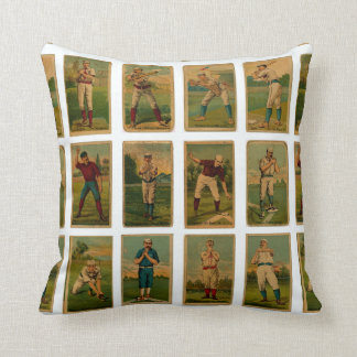 vintage baseball cards throw pillow