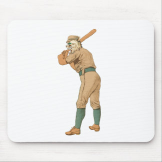 vintage baseball cat mouse pad