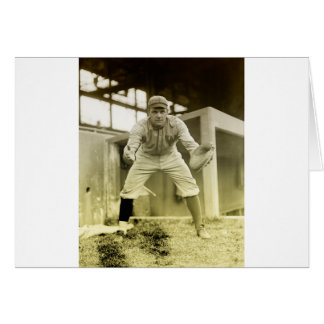 Vintage Baseball Catcher Card