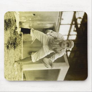 Vintage Baseball Catcher Mouse Pad
