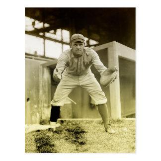Vintage Baseball Catcher Postcard