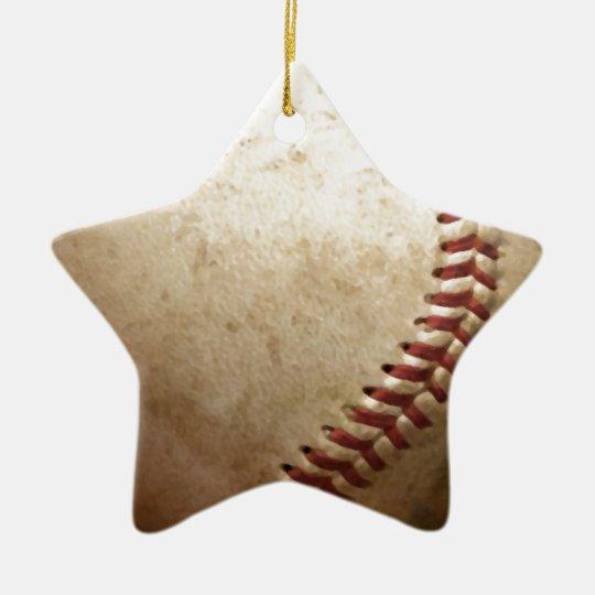 Vintage Baseball Ceramic Ornament