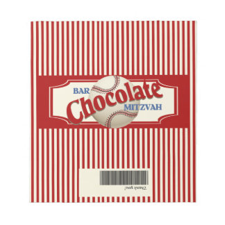 Vintage Baseball Chocolate Bar Wrapper Notepad