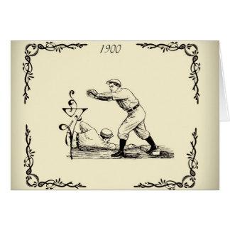 Vintage Baseball circa 1900 Greeting Cards