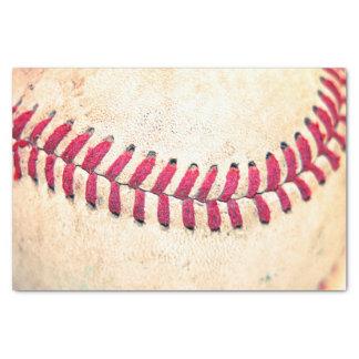 Vintage Baseball Close Up Photo Tissue Paper