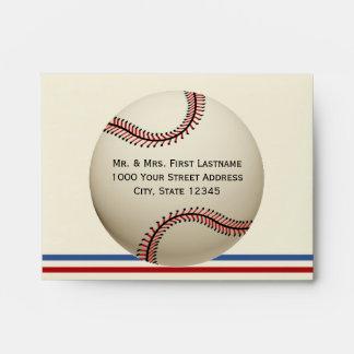 Vintage Baseball Custom Envelope