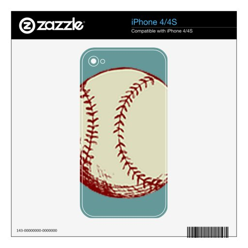 Vintage Baseball Decal For The iPhone 4S