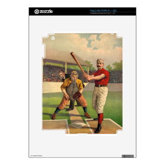 Vintage Baseball Decals For iPad 2