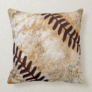 Vintage Baseball Decor for Guys, Vintage Baseball Throw Pillow