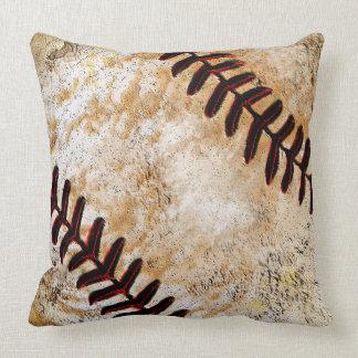 Vintage Baseball Decor for Guys, Vintage Baseball Throw Pillow