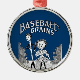 Vintage Baseball Design Metal Ornament