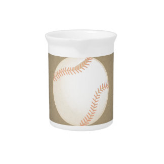 Vintage Baseball Design. Sport Pattern Beverage Pitchers
