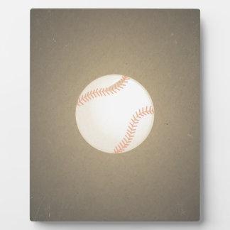 Vintage Baseball Design Sport Pattern Plaque