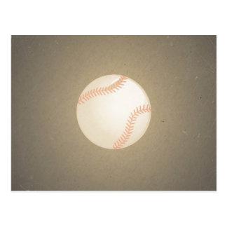 Vintage Baseball Design. Sport Pattern Postcard