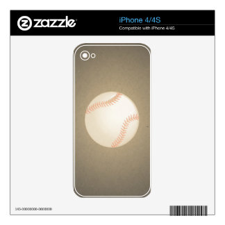 Vintage Baseball Design. Sport Pattern iPhone 4 Decal
