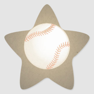 Vintage Baseball Design. Sport Pattern Star Sticker
