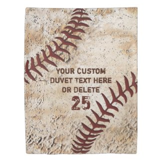 Vintage Baseball Duvet Cover with YOUR TEXT