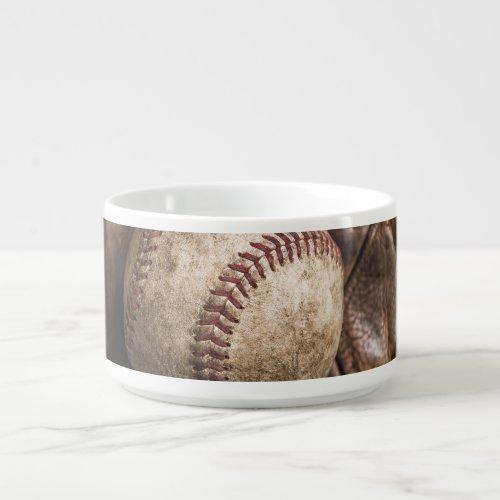 Vintage Baseball Equipment Bowl