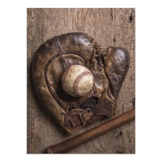 Vintage Baseball Equipment Card