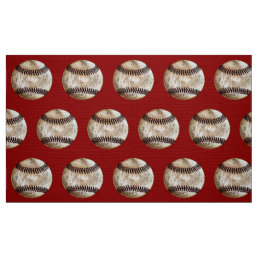 Vintage Baseball Fabric by the Yard