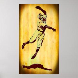 Vintage Baseball Fielder Canvas Print