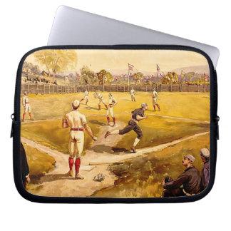 Vintage Baseball Game Computer Sleeve