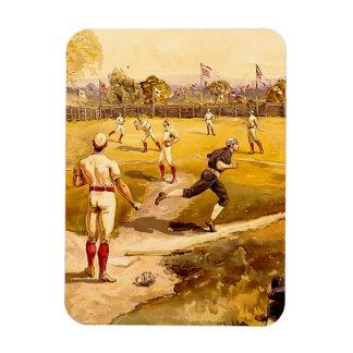 Vintage Baseball Game Magnet