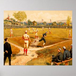Vintage Baseball Game Poster