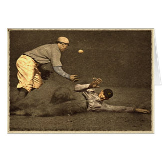 Vintage Baseball Greeting Card